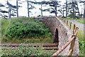 NO6852 : Sharp road bend by Railway Bridge ECN4/263 by Andrew Diack
