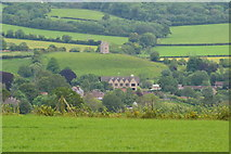 ST6834 : View over Bruton from Creech Hill Farm by David Martin