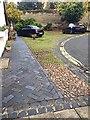 SP2864 : Private frontage, Castle Lane, Warwick by Robin Stott
