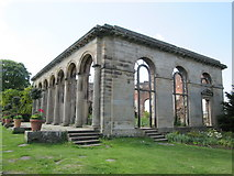 NZ1758 : The  Orangery  (ruin)  built  in  c1773.  Gibside by Martin Dawes
