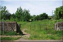 SP3103 : Start of a public footpath, Bampton, Oxon by P L Chadwick