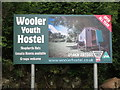 NT9927 : Sign at entrance to Wooler Youth Hostel by Geoff Holland