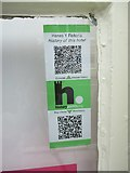 SH6266 : HiPoints information QR code at the Victoria Hotel, Bethesda by Meirion