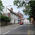 SP2872 : Kenilworth: Bridge Street traffic lights by John Sutton