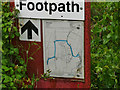 TF9302 : Footpath sign by David Pashley