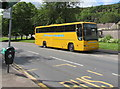 SO1403 : Yellow coach, White Rose Way, New Tredegar by Jaggery