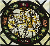 TG2308 : Stained-glass roundel, Norwich Cathedral by Julian P Guffogg