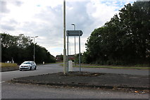 SP5921 : Roundabout on Wretchwick Way, Bicester by David Howard