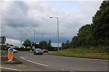 SP6933 : Roundabout on the A421, Buckingham by David Howard