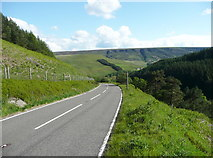 SE0901 : The A6024 descending to Woodhead, Tintwistle by Humphrey Bolton