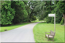 ST5071 : Signpost for cafe and garden, Tyntesfield Estate by M J Roscoe