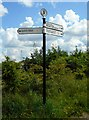 NS5159 : Fingerpost, Dams to Darnley Country Park by Richard Sutcliffe