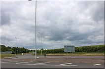 SP9330 : Roundabout on the A5 Watling Street, Sheeplane by David Howard