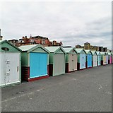 TQ2804 : Beach Huts, Hove Seafront by PAUL FARMER