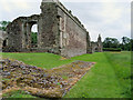 SJ5415 : Haughmond Abbey, West Wall by David Dixon