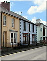 SN5748 : Colourful houses, Bryn Road, Lampeter by Jaggery