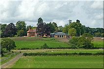 SP1876 : Farmland by Batts Hall near Solihull by Roger  Kidd