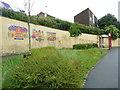 SE2632 : Murals, Lower Wortley Road, Wortley, Leeds by Humphrey Bolton