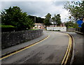 SN5748 : No parking in Bryn yr Eglwys, Lampeter by Jaggery