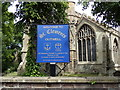 TF5103 : St. Clements Church sign by Adrian Cable