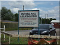 TF5104 : Outwell Village Hall & Playing Field sign by Adrian Cable