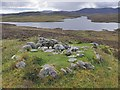 NB2520 : Shieling hut footings, Airigh Mhula, Isle of Lewis by Claire Pegrum