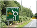 TF5004 : Roadsign on the A1101 Outwell Road by Adrian Cable