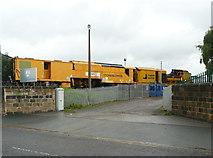 SE2932 : Stoneblower railway maintenance vehicle, Bridge Road, Holbeck, Leeds by Humphrey Bolton