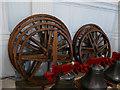 SE2918 : St Peter & St Leonard, Horbury - bell wheels by Stephen Craven