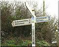 SX8355 : Signpost, Longland Cross by Derek Harper
