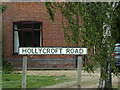 TF4905 : Hollycroft Road sign by Adrian Cable