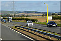 NO6365 : A90 north of Stracathro Services by David Dixon