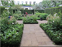 TQ2878 : Chester Square, rose and perennial garden by David Hawgood