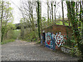 SE2917 : Old railway track through Hartley Bank Wood by Stephen Craven