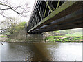SE2917 : Horbury West Curve bridge over the river Calder - underside by Stephen Craven
