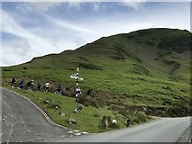NY1717 : Road junction in Buttermere by Richard Humphrey
