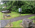 SO1303 : Royal Mail drop box near boulders, Greenfield Street, New Tredegar by Jaggery