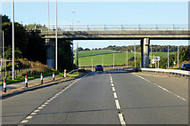 NO9093 : Bridge over the A92 at Newtonhill by David Dixon