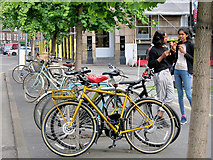 SJ8498 : Bikes at Stevenson Square by David Dixon