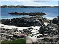 NM2823 : Rocky shore on Iona by M J Richardson