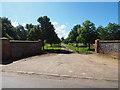 TL9492 : Gated entrance to Hockham Hall by David Pashley