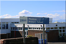 NS2107 : School Name Sign, Maidens by Billy McCrorie