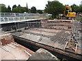 SX9291 : Swing bridge replacement - Exeter by Chris Allen