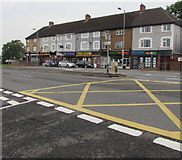 ST3090 : Row of shops, Malpas Road, Newport by Jaggery