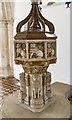 TG1728 : Font, St Andrew's church, Blickling by Julian P Guffogg