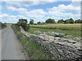 SP1503 : Cotswold drystone walling near Leafield Farm by Vieve Forward