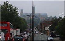 SK9771 : Lincoln Cathedral from Canwick Road by David Howard