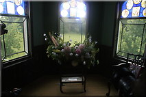 TQ1572 : View of flowers in Strawberry Hill House #2 by Robert Lamb