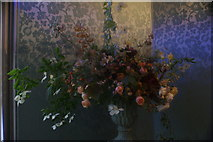 TQ1572 : View of flowers in Strawberry Hill House #6 by Robert Lamb
