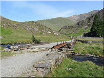 SH6252 : Bridge carrying the Watkin Path over the Afon Cwm Llan by Gareth James